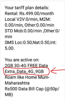 Vodafone 9GB Extra Data