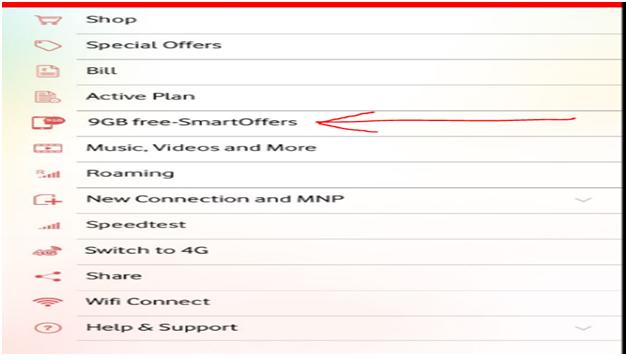 Vodafone Inda 9GB Free Data Offer