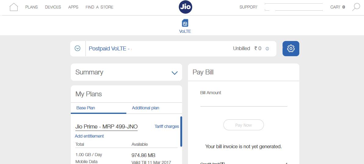 Reliance Jio Postpaid Plans