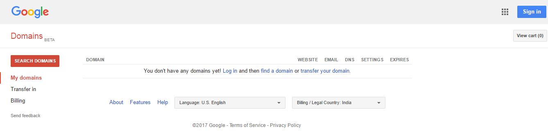 Google Domains India
