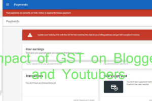 GST on Adsense
